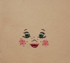 Visage pour poupée en chiffon visage pour création textile