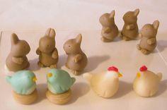 bunnies and birds for the garden
