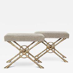 Alexandre Loge Xanto Bronze Benches by Alexandre Log