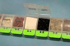 Use a pill organizer and fill the sections up with your favorite spices!