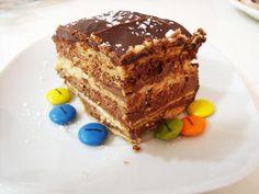 torta de galletas y chocolate