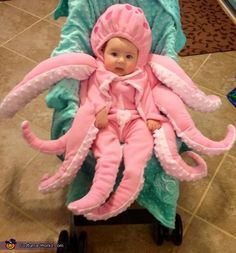 Octopus Stroller Halloween Costume | Costume Works and other adorable halloween stroller costumers!