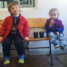 Get 'em converted young... Hot choc this time at the #edgcumbescoffee Cafe.. Next time a cheeky little Colombian perhaps?