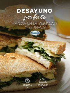 Share the perfect breakfast with your roomies and prepare an avocado and spinach sandwich. Healthy Low Carb Breakfast, Breakfast Recipes, Healthy Eating, Kitchen Recipes, Cooking Recipes, Vegetarian Recipes, Healthy Recipes, 20 Min, Chapati