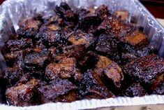 Smoked Chuck Roast Burnt Ends - Smoking Meat Newsletter - These smokey delicious, gooey, tender and tasty burnt ends made from smoked chuck roast and are to - Smoked Chuck Roast, Beef Chuck Roast, Smoked Pork, Smoked Beef Roast, Smoked Brisket, Grilling Recipes, Beef Recipes, Grilling Ideas, Traeger Recipes