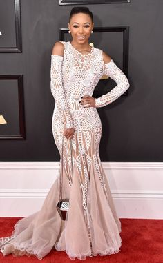 Kriss Mincey from Grammys 2017 Red Carpet Arrivals  In Miri Couture