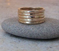 Shoply.com -Five Golden Rings Hammered Stacking. Only $60.00