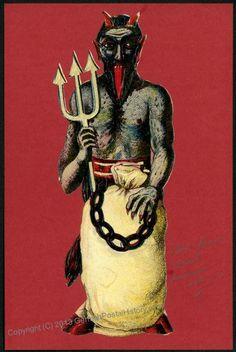 Image 1 of Krampus 1898 Austria Color Postcard