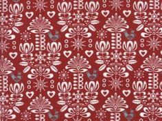 Gina Martin - Folk Art Holiday - Damask Poppy   buy in-store and online from Ray Stitch