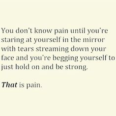 And then you become numb. That's how you deal.