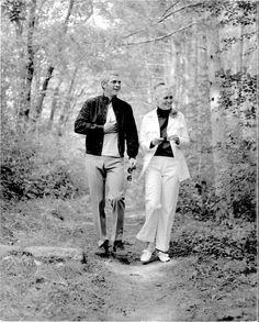 Steve Mcqueen et Faye Dunaway Tournage L'Affaire Thomas Crown Tirage unique très rare !