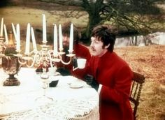 S. J. Paul McCartney♥♥  When are you free to take some tea with me - Paul outdoor tea