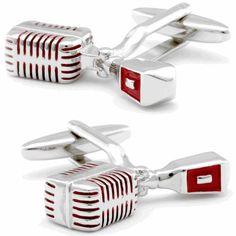 Microphone Cufflinks, Fine Men's Jewelry from Cufflinksman #cufflinks #jewelry