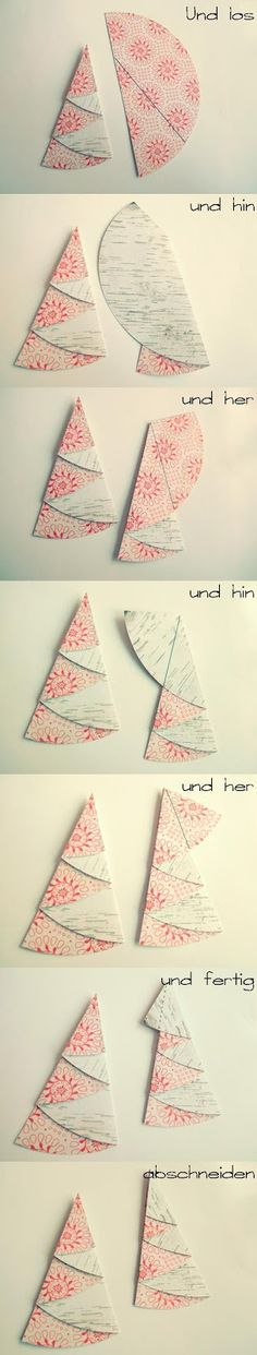 Scrapbox: folding fir trees - a little tutorial by Maria mariasscrapbox . - Scrapbox: Folding Christmas trees – a little tutorial from Maria mariasscrapbox. Christmas Art, Christmas Projects, Handmade Christmas, Christmas Decorations, Christmas Ornaments, Diy And Crafts, Crafts For Kids, Navidad Diy, Diy Cards