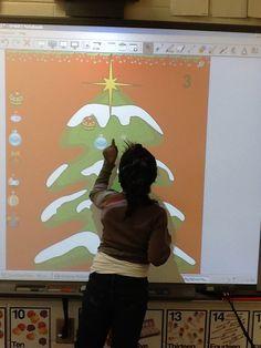 Smartboard Christmas Counting