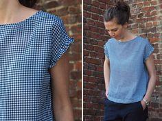 Vêtements simples et faciles au féminin : le t-shirt à mancherons