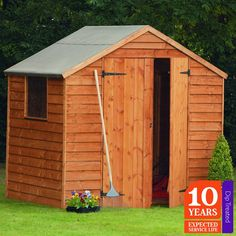 7 x 5 overlap dip treated pent shed green houses and gardens