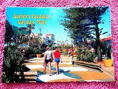 SURFERS PARADISE GARDEN MALL POSTCARD [473] Garden Mall, Paradise Garden, Surfers, Surf Girls, Surfs Up