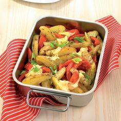 Überbackene Kartoffel- und Paprikaspalten Rezepte   Weight Watchers