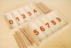 Les boîtes de fuseaux Montessori à chiffres rugueux sont opérationnelles