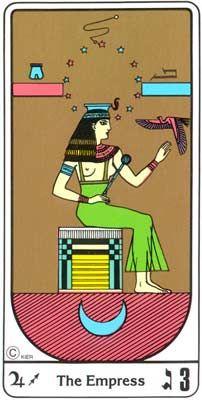 La Imperatriz (A Imperatriz) no Tarot Egipcio da Kier