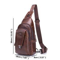 74a40fd721f8 BULLCAPTAIN Bullcaptain Vintage Genuine Leather Large Capacity Chest Bag  Sling Bag Crossbody Bag For Men is hot-sale