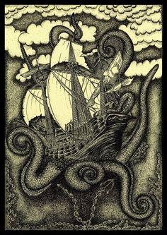 pirate.  kraken ship