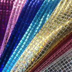 """Hologram Square Sequins Fabric for Decoration and Crafts 44"""" Wide By The Yard"""
