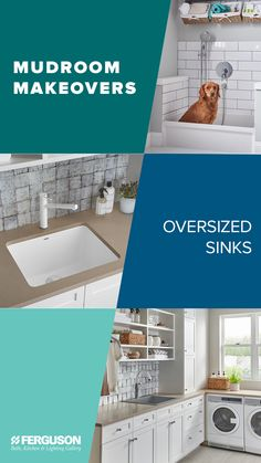 The new year brings new projects to tackle, and we're here to help modernize mudrooms everywhere with a sneak peek at the latest trends in laundry room looks. Mud Rooms, Kitchen Lighting, Laundry Room, Retirement, Latest Trends, Sink, Modern, Projects, Design
