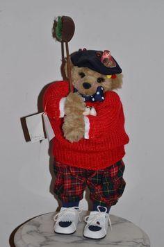 handmade standing bear Bonnie Taylor Fore golfer golf Apple Whimseys Lita Gates #AppleWhimseys #AllOccasion