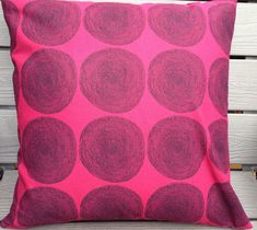 Pippurikera pillow case, design by Annika Rimala. This pillow would bring modern style to your living room, bedroom, or just about anywhere!