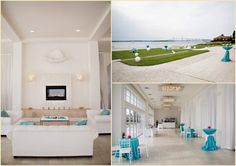 AFR Lounge Furniture- Plaza Collection   Crinkle Taffeta Turquoise linen by Rentals Unlimited.   Belle Mer/Person & Killian photography