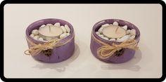 Candle Holder Handmade Distressed painting  Tea light candles Chalk Paint GU pots DIY