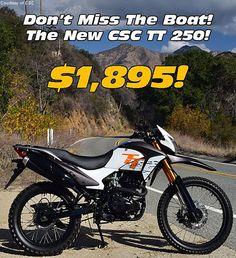 CSC Motorcycles Offers $1895 TT 250 Dual Sport