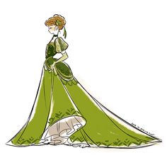 This would be a pretty court dress for Anna.  It probably wouldn't lend itself to cartwheels, though.