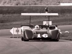 1969 - Chris Amon in the Ferrari 612 at the Michigan Can Am meeting.