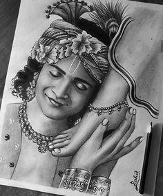 Radha Krishna Sketch, Krishna Drawing, Krishna Painting, Krishna Art, Krishna Statue, Radhe Krishna, Lord Krishna, Art Drawings Beautiful, Dark Art Drawings