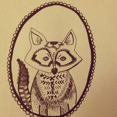 Fox Illustration by ShopLaveau on Etsy, $15.00