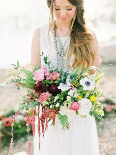 Boho Burgundy Intimate Wedding Ideas via TheELD.com // Photography by Shea Brianne Photography // Florals by He Loves Me Flowers