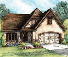 Plan European Cottage with Expansion Possibilities Cottage Floor Plans, Cottage House Plans, Dream House Plans, Small House Plans, Cottage Homes, House Floor Plans, Cottage Ideas, Lake Cottage, Farm House