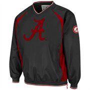Alabama Crimson Tide Hardball Pullover Jacket - Charcoal