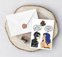 Lesbian Christmas Card Printable Gay Christmas gift Instant