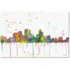 Trademark Fine Art Minneapolis Minnesota Skyline Mclr-1 inch Canvas Art by Marlene Watson, Size: 16 x 24, Multicolor