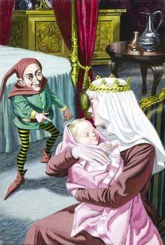 Rumpelstiltskin comes to take the baby - Rumpelstiltskin - Eric Winter - Ladybird book