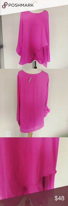 NWT The Limited Blouse NWT Beautiful sheer blouse with double layer hemline. Gorgs! The Limited Tops Blouses