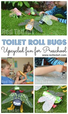 Toilet Paper Roll Minibeast Craft - if your kids love bugs or minibeasts, make these fabulous Toilet Paper Roll Bugs this Spring or Summer. #toiletpaperroll #toiletroll #bugs #minibeasts #preschool #teachers Summer Crafts For Toddlers, Easy Crafts For Kids, Toddler Crafts, Art For Kids, Craft Kids, Insect Crafts, Bug Crafts, Sand Crafts, Insect Activities
