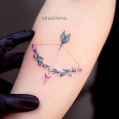 Flower bow tattoo. This is beautiful