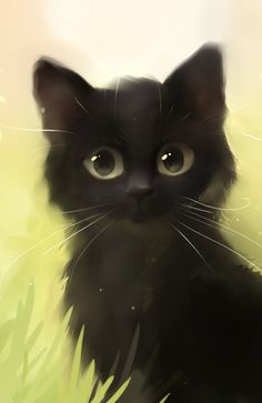 Savage Cat by Rihards Donskis #black #illustration