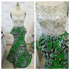 African Print Clothing, African Print Fashion, Tribal Fashion, African Lace Dresses, African Fashion Dresses, Fashion Outfits, African Outfits, Lace Gown Styles, Ankara Dress Styles