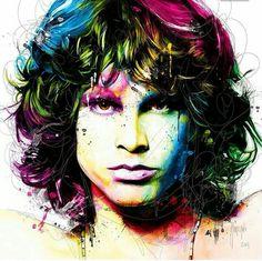Watercolour tattoo,Jim Morrison.